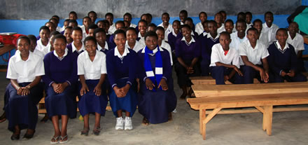 Sponsored children at Groupe Scolaire, May 2012.